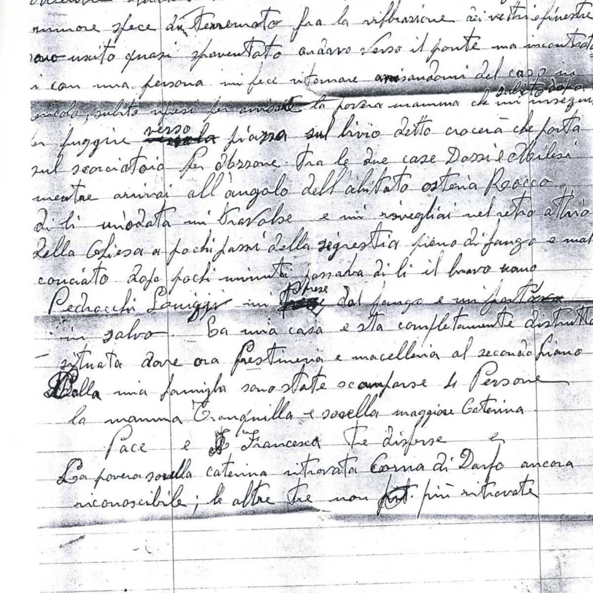 Lettera di Bettineschi Gianmario fu Tranquillo