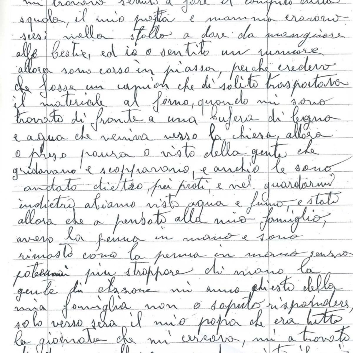 Lettera di Bettineschi Francesco
