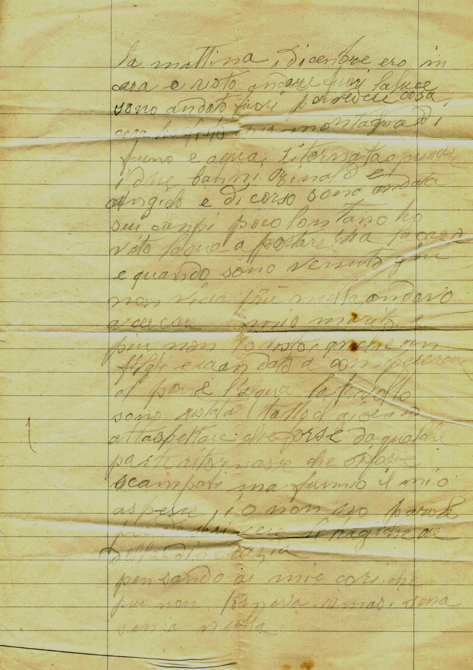 Lettera di Bettineschi Ortensia
