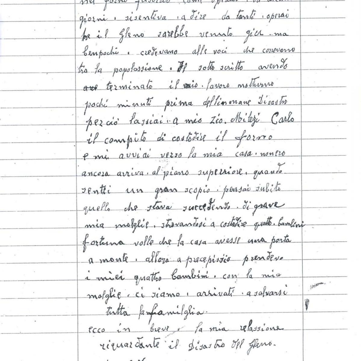 Lettera di Lenzi Francesco