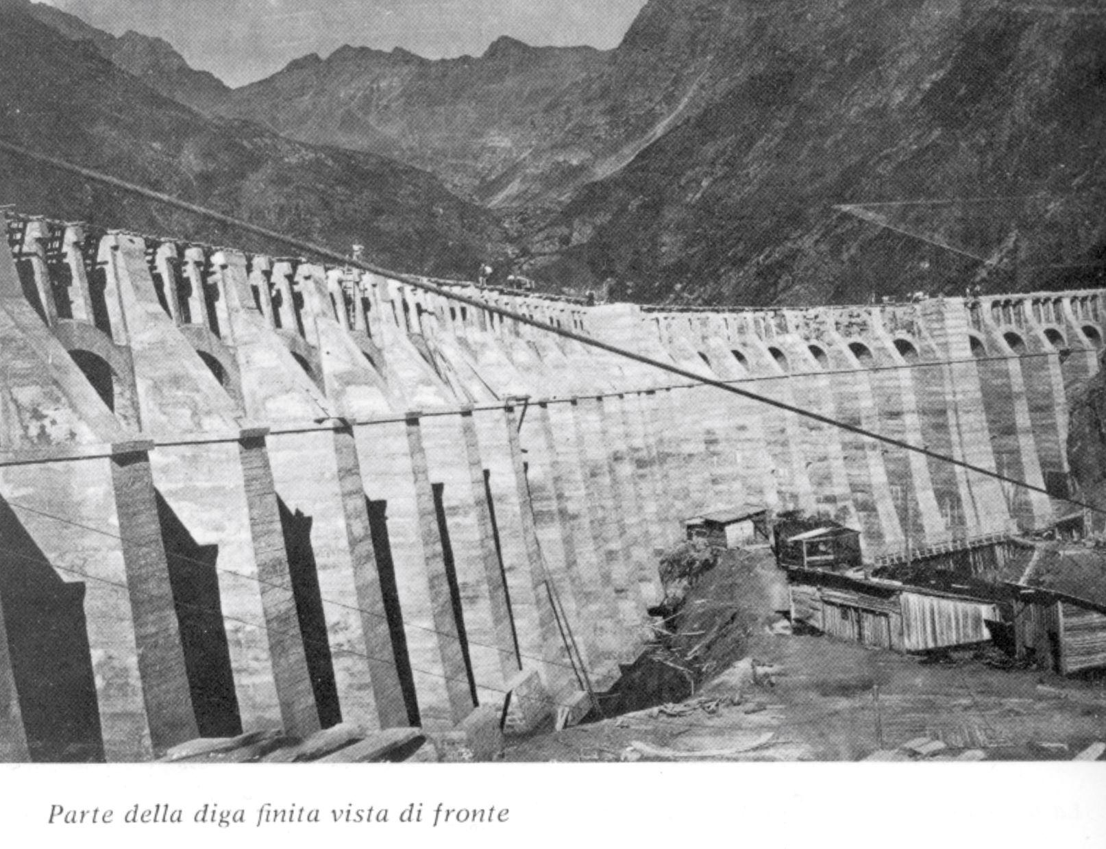 Parte della diga finita